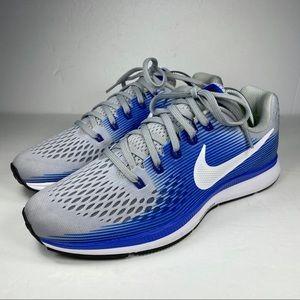 Nike Zoom Pegasus 34 Grey Blue Running Shoes
